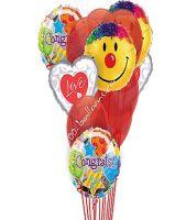 Congrats Love & Smiles Balloons