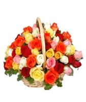 36 Mixed Roses Basket