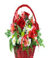 Florist Designed Flower Basket L-China