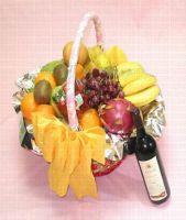 Fruit Basket & Wine