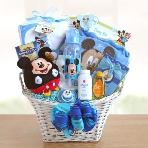 Mickey Mouse Baby Boy Basket