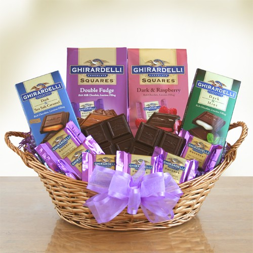 Ghirardelli Chocolate Heaven Gift Basket for Mom