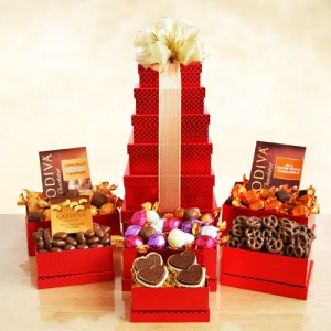 Godiva Red Valentine Tower
