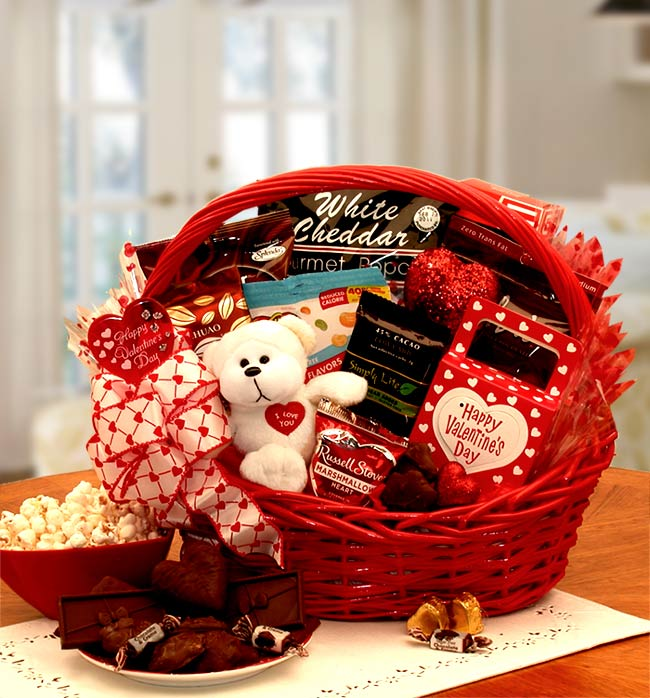 Valentines day gift basket delivery to usa send valentines day my sugar free valentine gift basket negle Choice Image