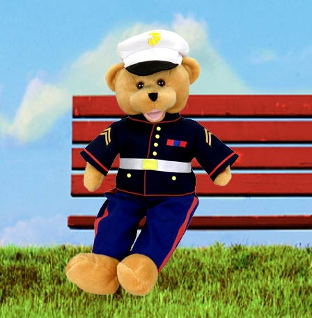 "American Hero Marine Bear - ""From the Halls of Montezuma"""