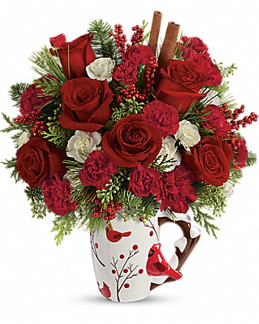 Send a Hug Christmas Cardinal by Teleflora