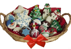 Assorted Holiday Sweet Treats Gift Basket