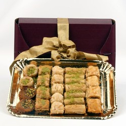 Burgundy & Gold Winter Baklava Assortment
