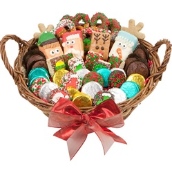"12"" LARGE CHRISTMAS EDITION GOURMET GIFT BASKET"