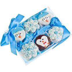 Winter Brownie Gift Box of 6