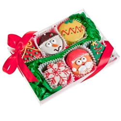 Christmas Brownie Gift Box of 6