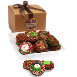 Belgian Chocolate Christmas Oreos- Gourmet Gift Box