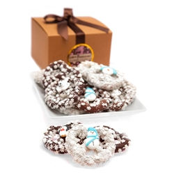Winter Belgian Chocolate Pretzel Twists- Gourmet Gift Box