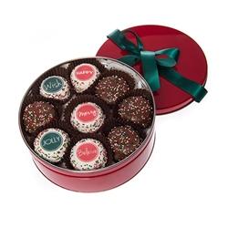 Tin of 9 Christmas Macarons