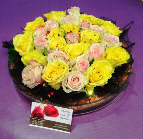 Mixed roses 101 stems Gift Wrapped