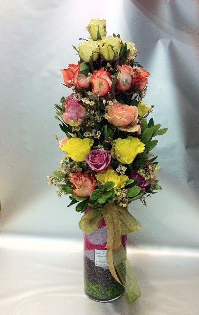Roses arrangement  30 stems  Big Headed Ecuador  vase