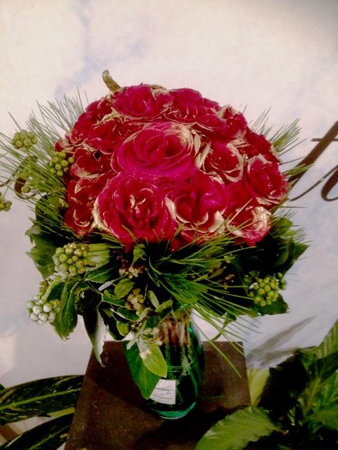 Design bouquet 31 red roses Extra Quality Dutch  Vase