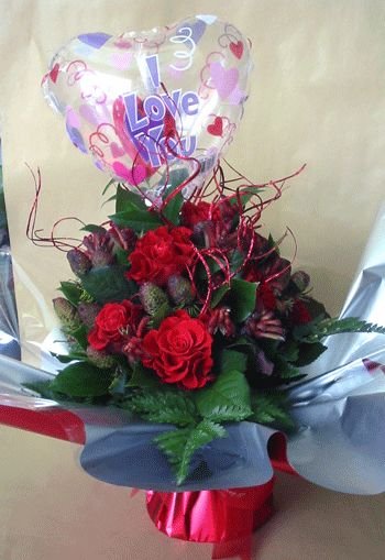 Red roses bouquet 36 stems
