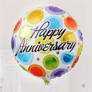 Happy anniversary Balloon inflated with helium