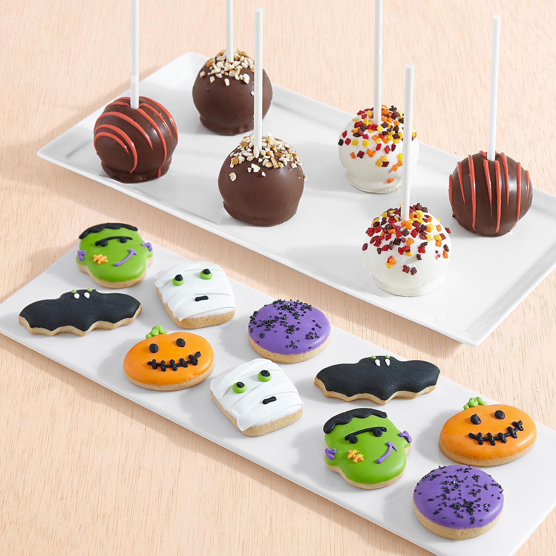 10 Halloween Mini Cookies and 6 Autumn Cake Pops