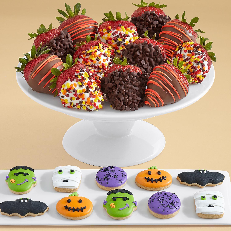 10 Halloween Mini Cookies and Full Dozen Autumn Strawberries