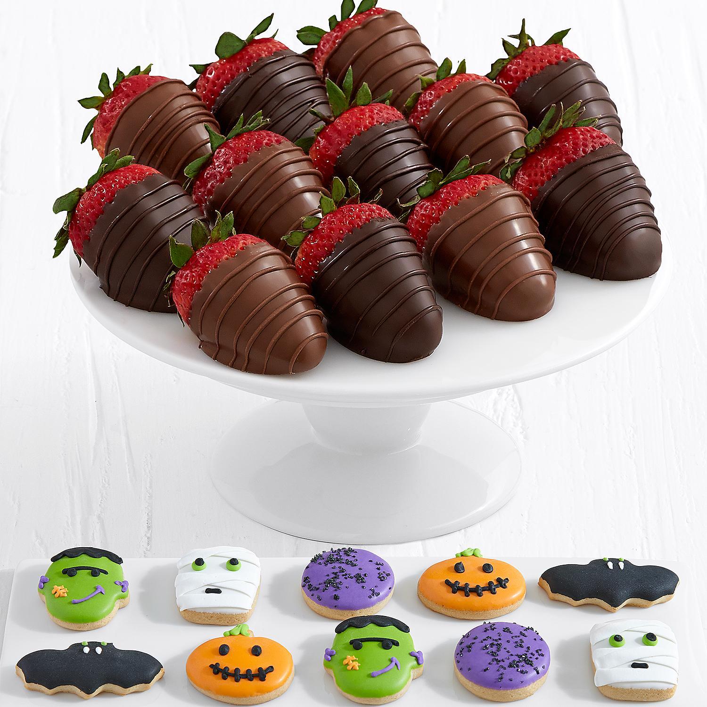 10 Halloween Cookies and Full Dozen Belgian Chocolate Strawberries