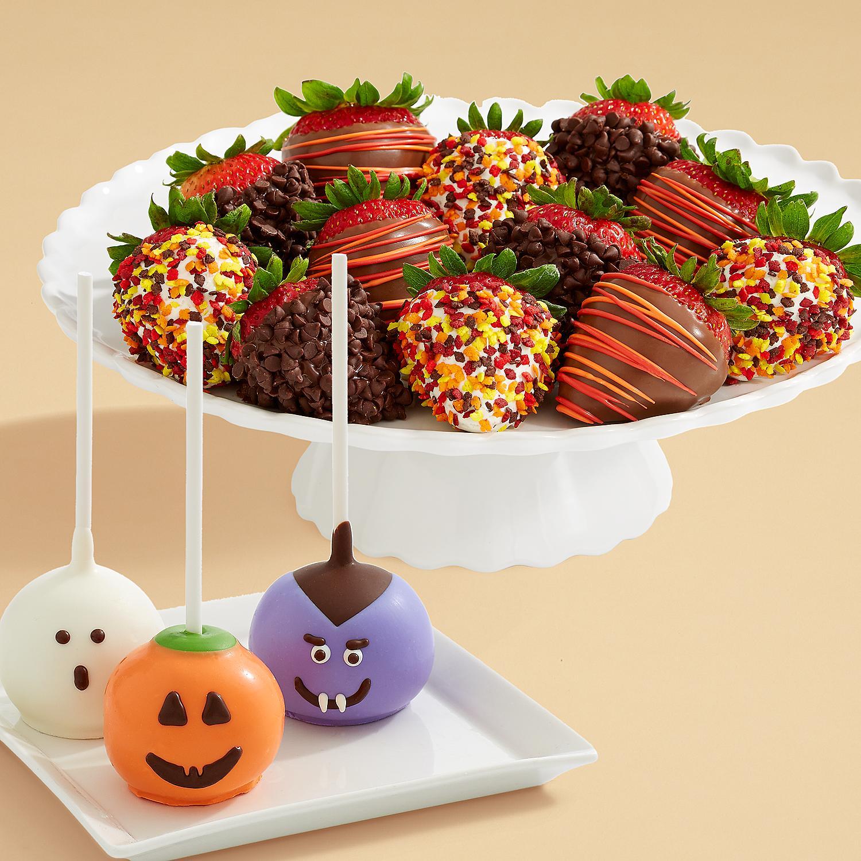 3 Halloween Brownie Pops and Full Dozen Autumn Strawberries
