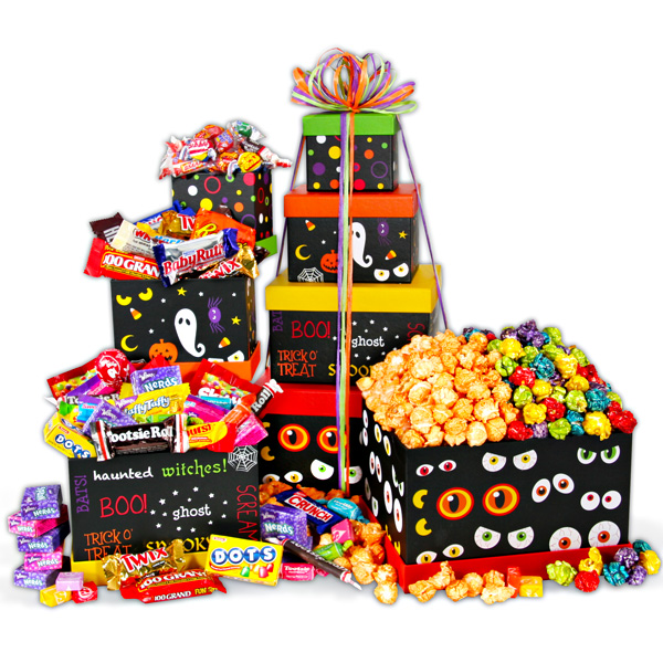 spooky eyes halloween gift tower - Halloween Gifts Kids