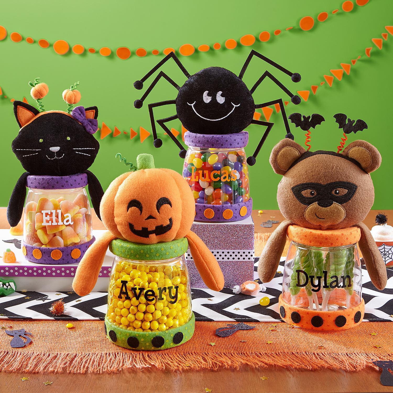 Halloween Friends Plush Treat Jars