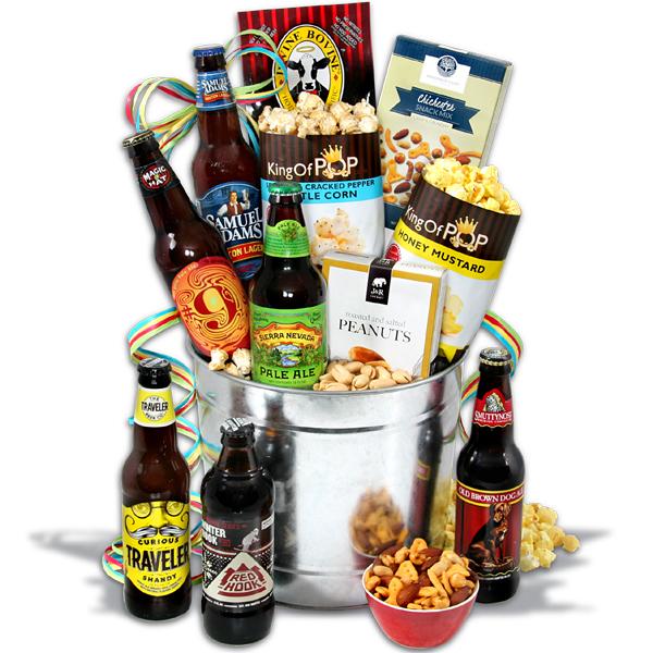 Microbrew Beer Bucket Gift Basket  6 Beers