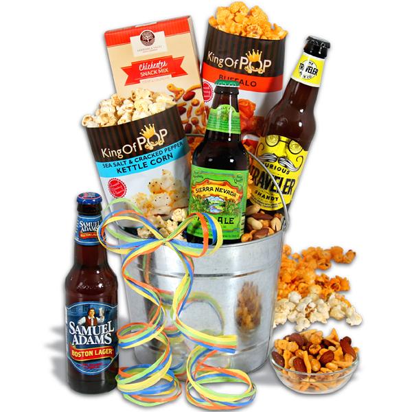 Microbrew Beer Bucket Gift Basket  3 Beers