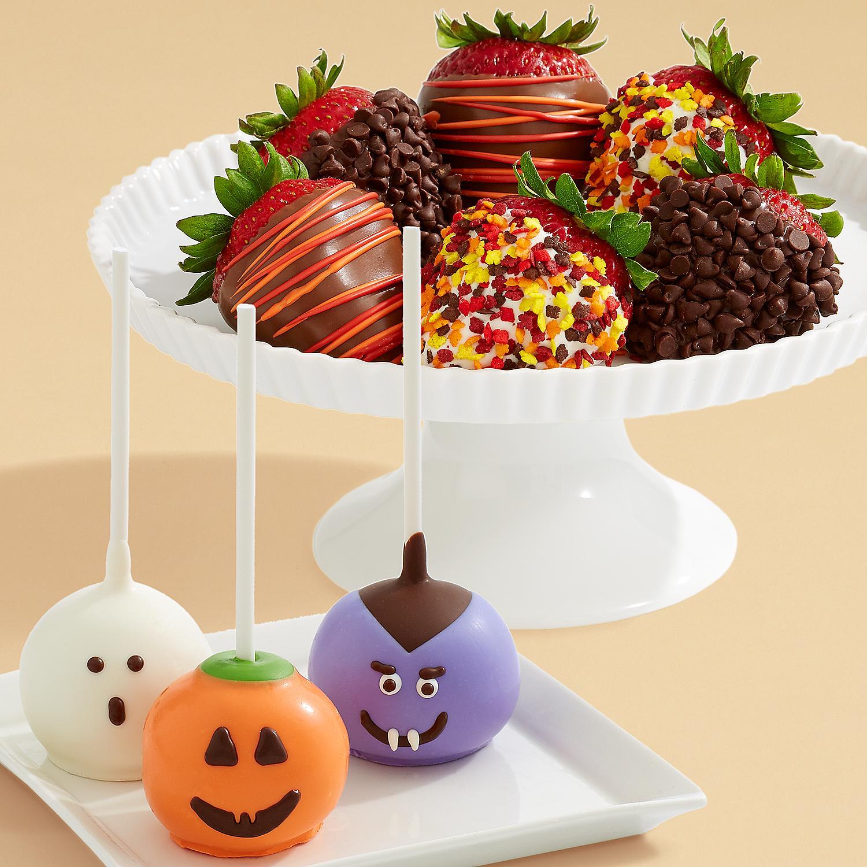 3 Halloween Brownie Pops and Half Dozen Autumn Strawberries
