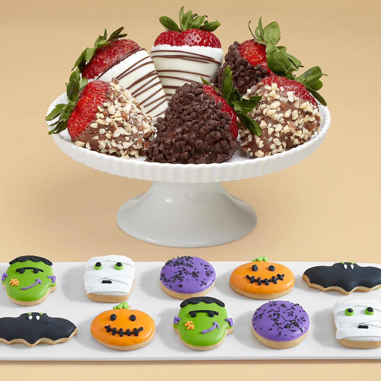 10 Halloween Mini Cookies and Half Dozen Fancy Strawberries