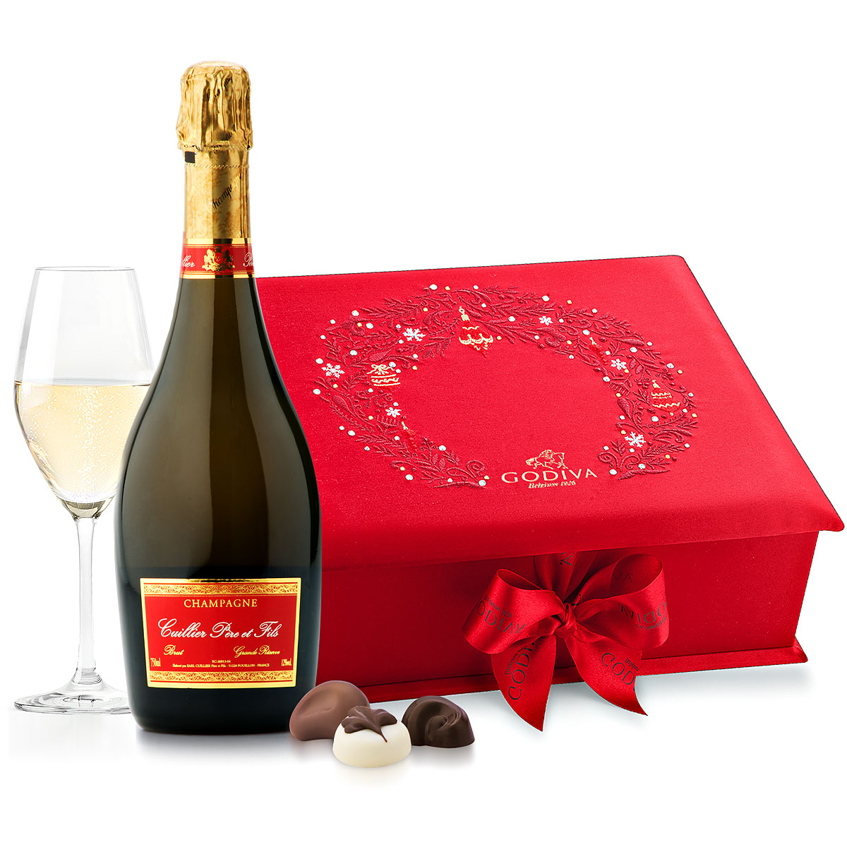 Champagne And Godiva Red Swarovski Box