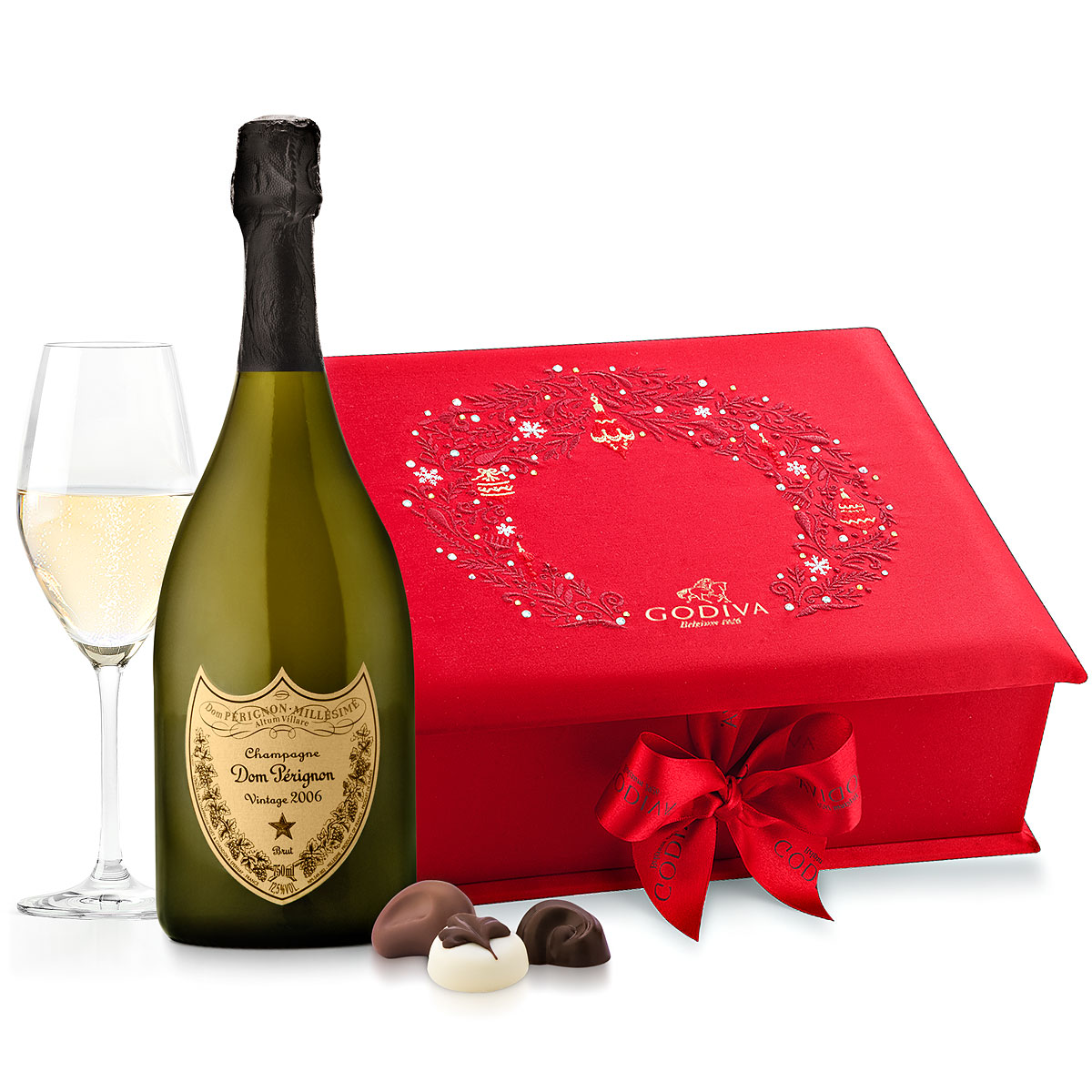 Dom Pérignon And Godiva Red Swarovski Box
