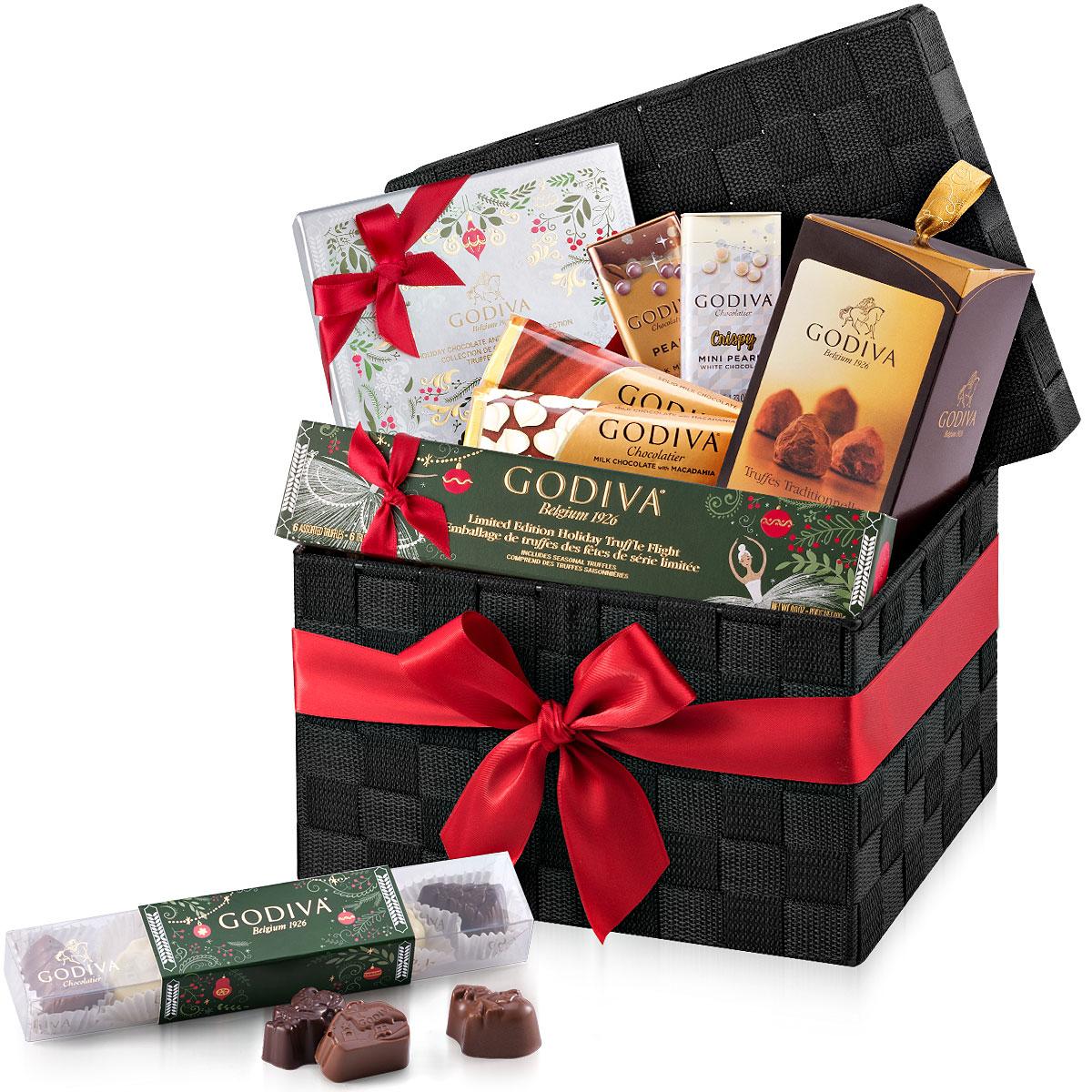 Godiva Christmas Large Woven Gift Hamper