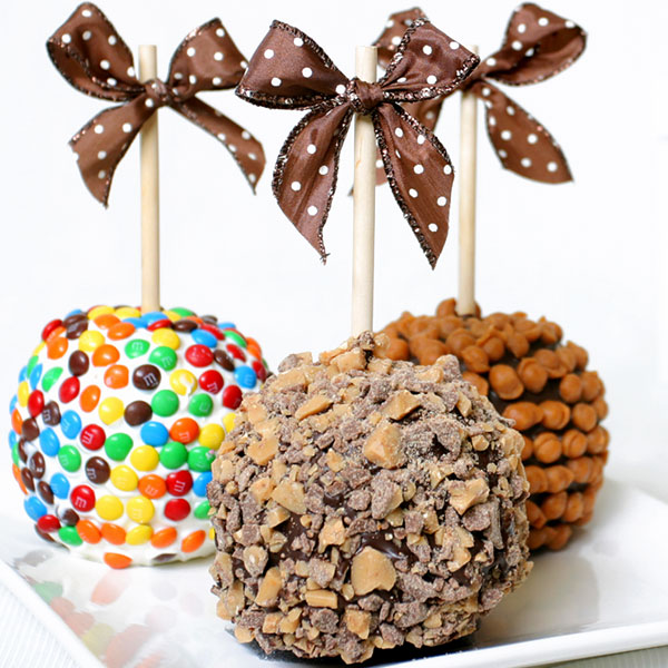 Caramel And Candy Dipped Apples