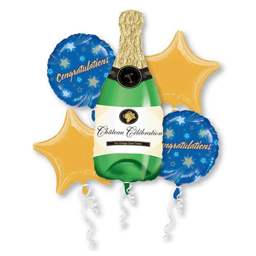 Bouquet Champagne Bottle Balloon Bouquet