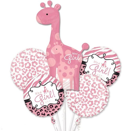 Sweet Safari Girl Balloon Bouquet