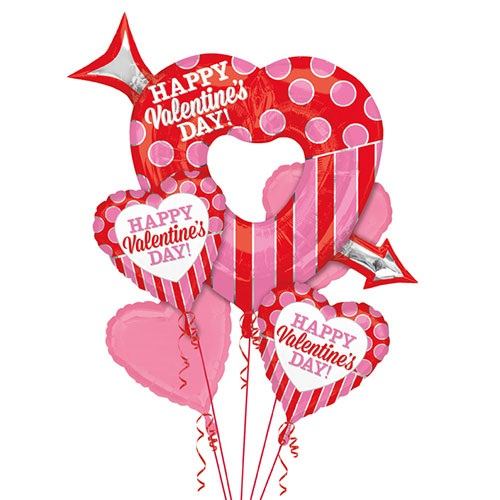 Valentine Open Arrow Heart Bouquet