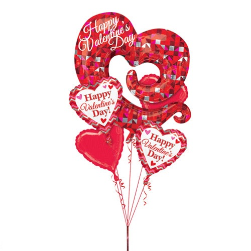 Valentine Swirly Open Heart Bouquet