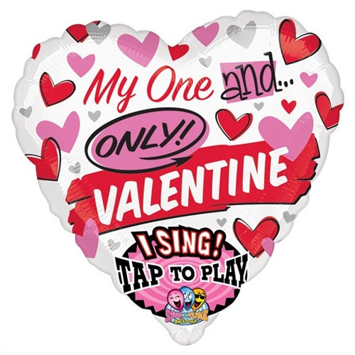 Valentine My One and Only SingaTune Balloon