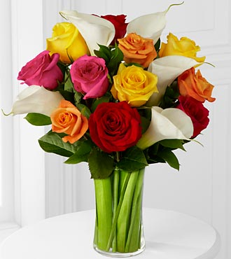 Mixed Roses and Calla Lily Bouquet