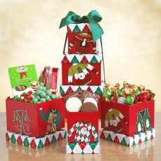 "Holiday ""Ugly Sweater"" Snack Tower"