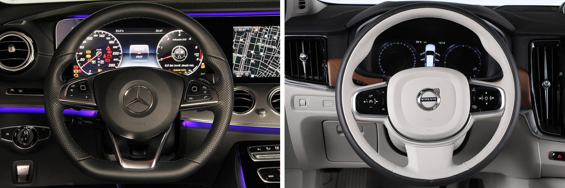Las fotos del Mercedes-Benz Clase E Estate corresponden al acabado AMG Line. Las fotos del Volvo V90 corresponden a la versión indicada. Fotos cedidas por KM77.
