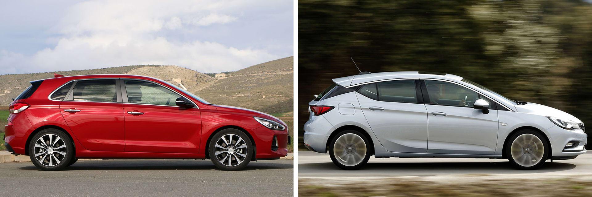 Las fotos del Hyundai i30 corresponden al acabado Tecno. Las fotos del Opel Astra corresponden al acabado Excellence. Fotos cedidas por KM77.