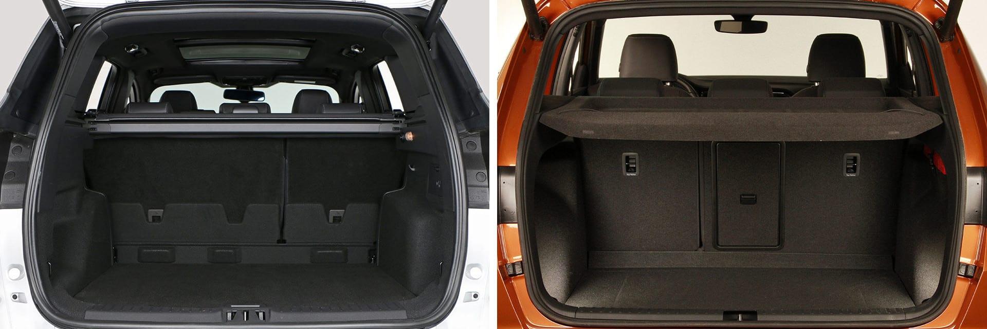 Las fotos del Ford Kuga corresponden al acabado ST-Line. Las fotos del SEAT Ateca corresponden al acabado Xcellence. Fotos cedidas por km77.