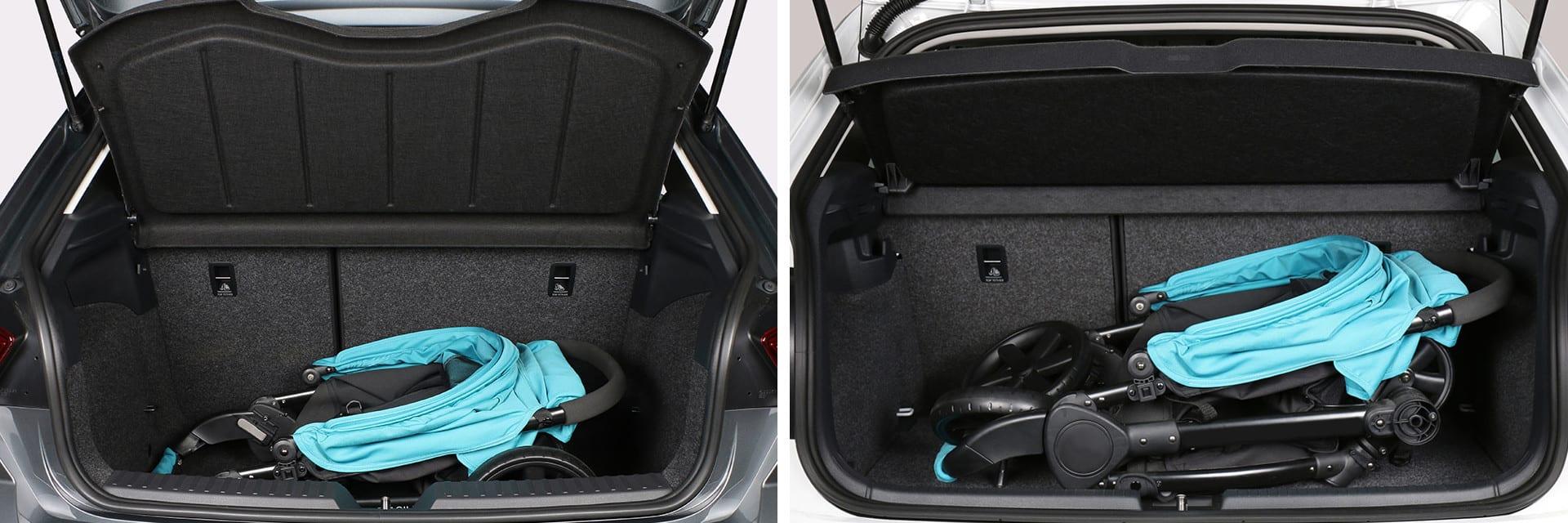 En los dos maleteros hay espacio suficiente para guardar una silla infantil y algún objeto más.