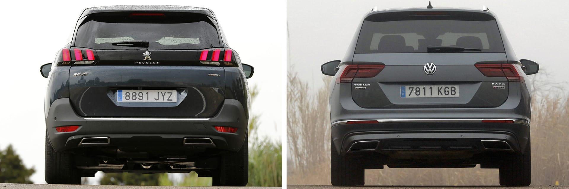 La altura al borde de carga del Peugeot (Izq.) está 4 cm más baja que en el Volkswagen (73 cm)