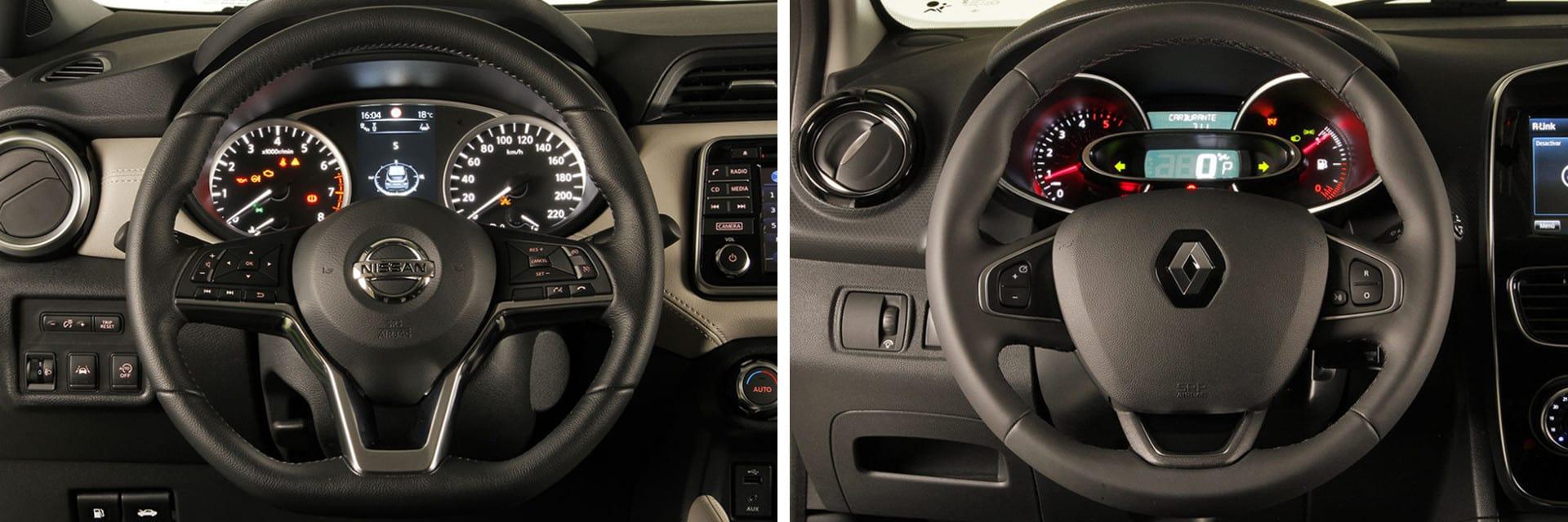 Personas de diferentes tallas pueden encontrar con facilidad una buena posición de conducción en ambos coches.